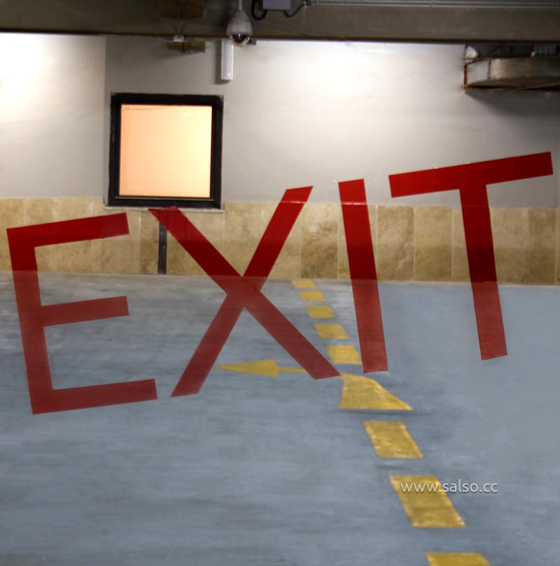 تابلوی خطای دید راهنمای پارکینگ تیراژه۲ EXIT