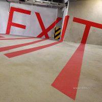 تابلوی خطای دید راهنمای پارکینگ تیراژه۲ EXIT2