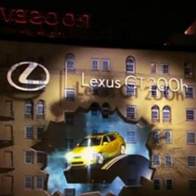 رویداد تبلیغاتی لکسوز و نورپردازی سه بعدی
