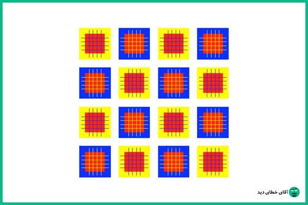 خطای دید اندازه مربع ها