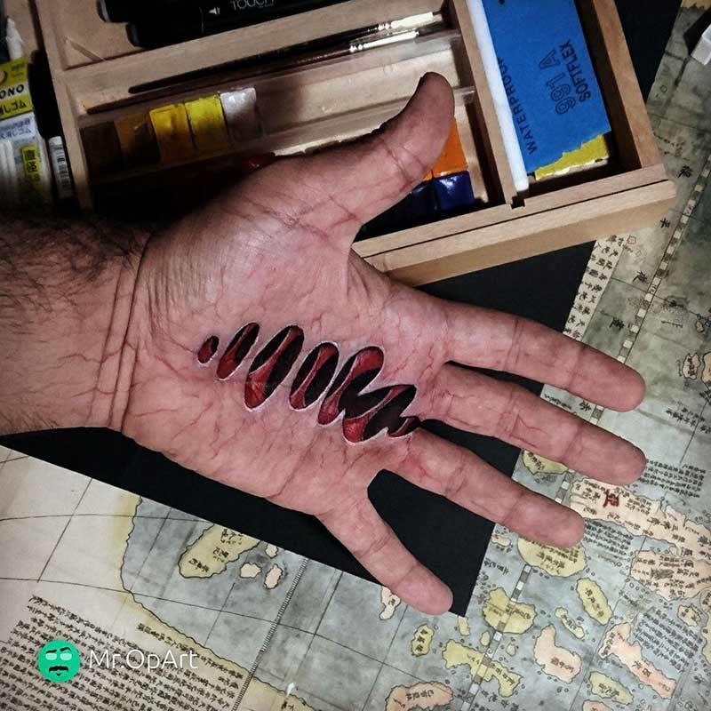 نقاشی روی دست ۶