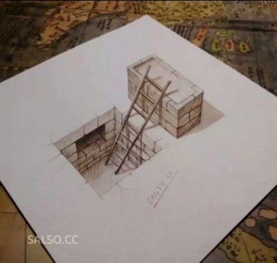 تکرار اولین نقاشی سه بعدی