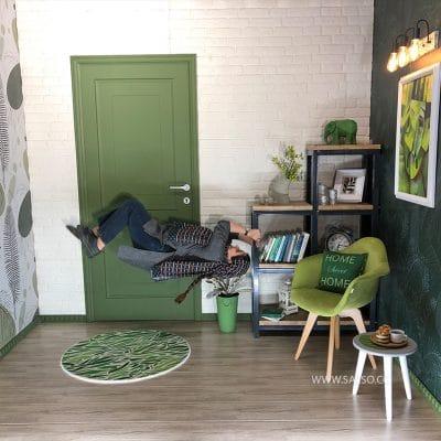 اتاق وارونه(۹۰ درجه) در مجیک پارک کیش