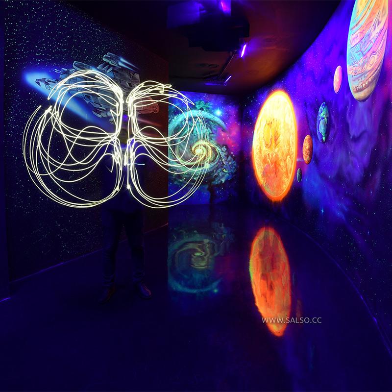 نقاشی سه بعدی بلک لایت کهکشان