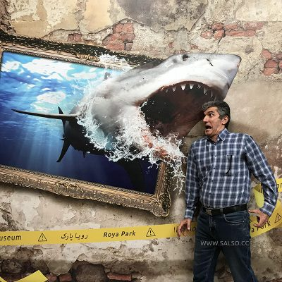 Shark Attack Picture Frame 3D Sticker