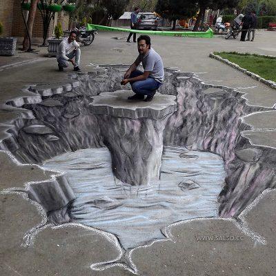 نقاشی سهبعدی در پارک چیتگر