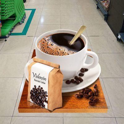 استیکر سهبعدی فنجان قهوه