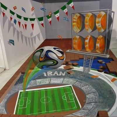 نقاشی سه بعدی باشگاه هوادی تیم ملی فوتبال ایران