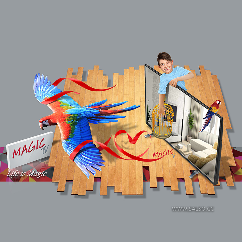 TV Package Cover 3D Design