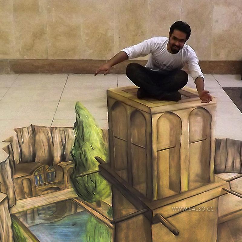 نقاشی سهبعدی بادگیر