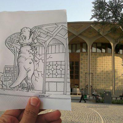 دایناسور در تاترشهر