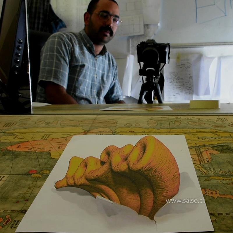 نقاشی اسم سه بعدی محمد
