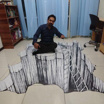 نقاشی سه بعدی سخره برای مستند شبکه تهران