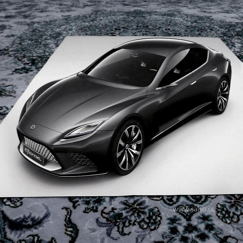 نقاشی سه بعدی ماشین