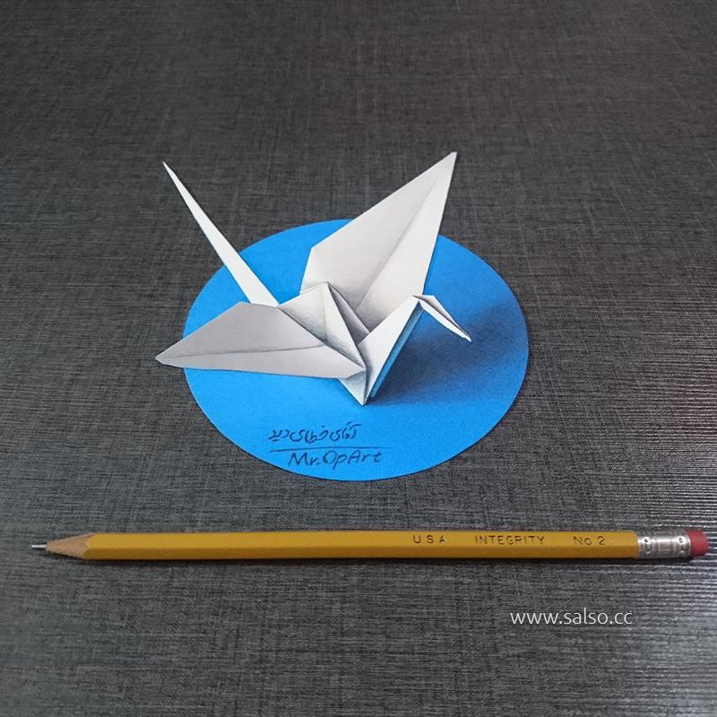 نقاشی سه بعدی درنا