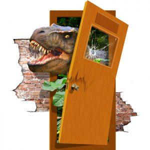 دایناسور Trex – نقاشی سه بعدی دیواری (۴ مترمربع)
