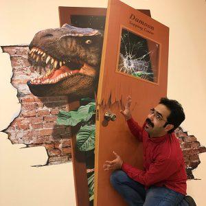 دایناسور Trex – نقاشی سه بعدی دیواری – (فایل + چاپ) (۴ مترمربع)