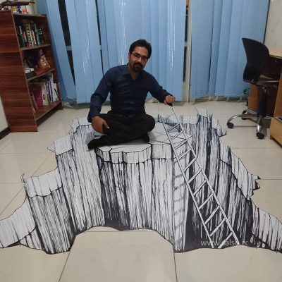 نقاشی سه بعدی دره