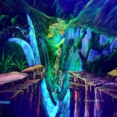 نقاشی سه بعدی بلک لایت دره