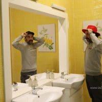 آینه دستشویی جادویی در خانه وارونه تهران