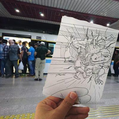 دایناسور در مترو