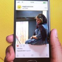 استیکر سه بعدی سلفی موبایل
